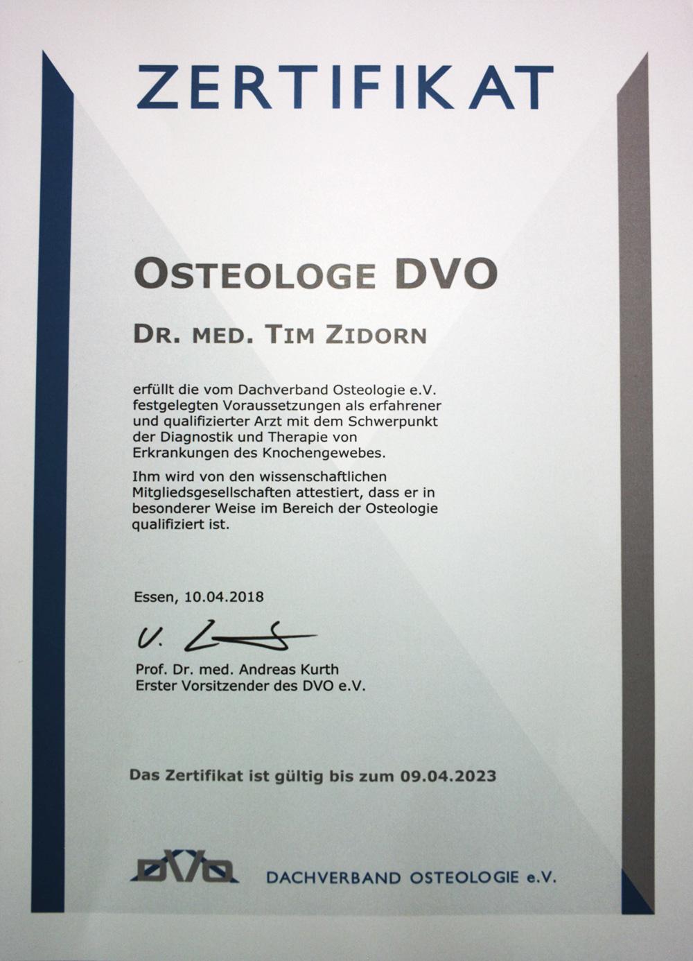 Knochendichtemessung - Orthopädische Praxis Dr. Zidorn Flensburg